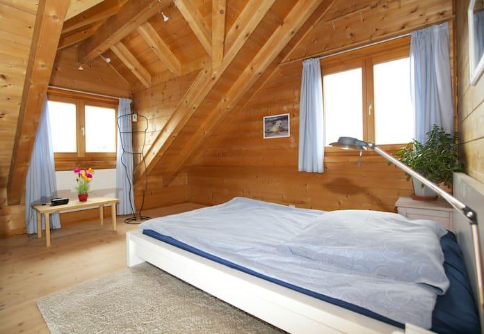 1 Zimmer (Nr 1) in einem Blockhaus - Therwil - 小木屋