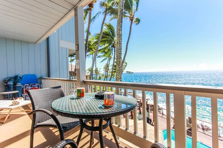 Poipu Palms 204: Oceanfront Corner Condo, Cliffside Pool Cruise Down The Beautiful South Shore And Discover This Family-Friendly Getaway