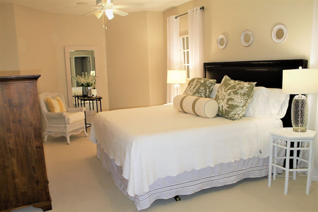 Spacious Master Bedroom with SUPER comfy king bed!