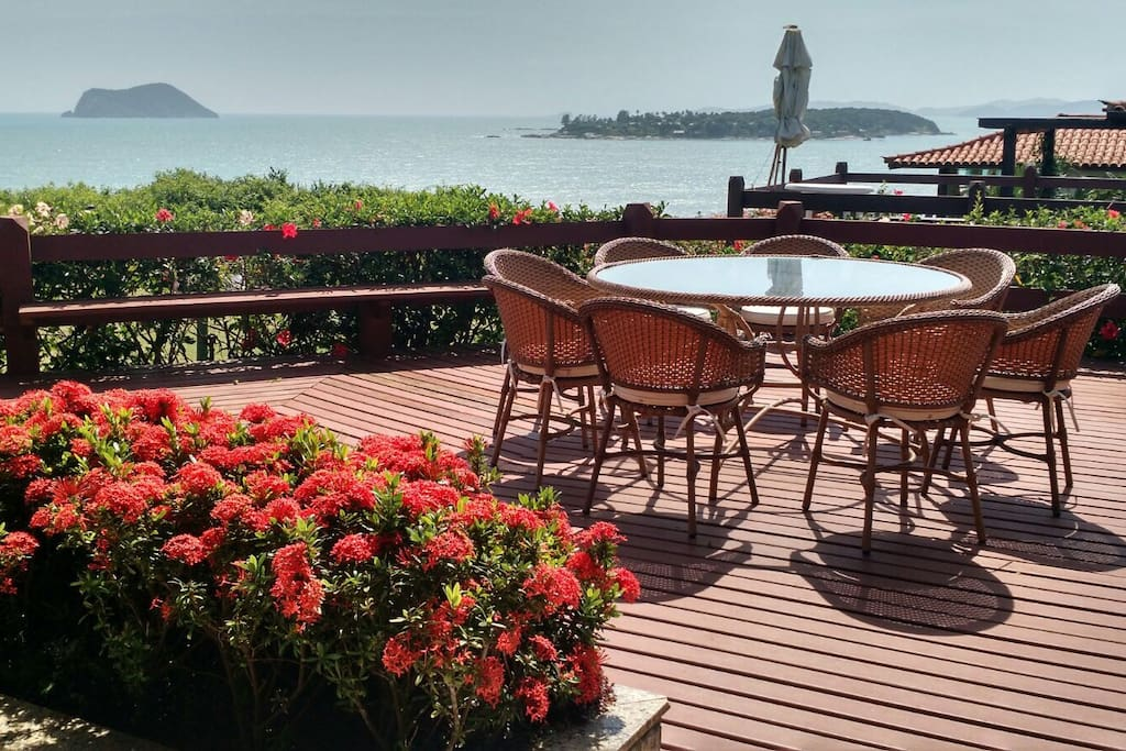 Outdoor deck with scenic view