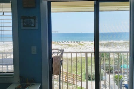 Completely Renovated Beach Front 1BR On Top Floor
