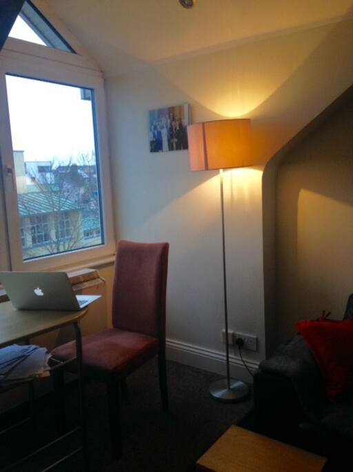 Seat by the window perfect for getting a bit of work done over breakfast