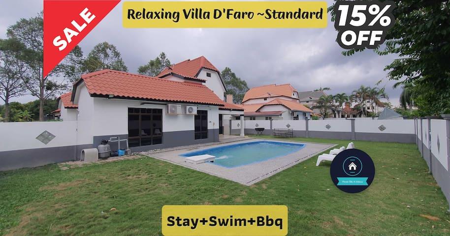 """Relaxing Villa """"D'Faro ~ Standard"""" ~ Stay+Swim+Bbq"""