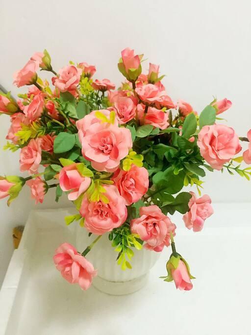洗衣机上的花儿