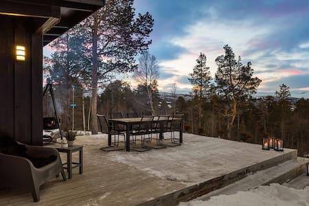 Koselig og skjermet hytte på Fagerhaug