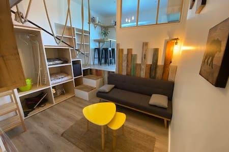 Acotz Studio vue mer 22m + mezzanine de 6m