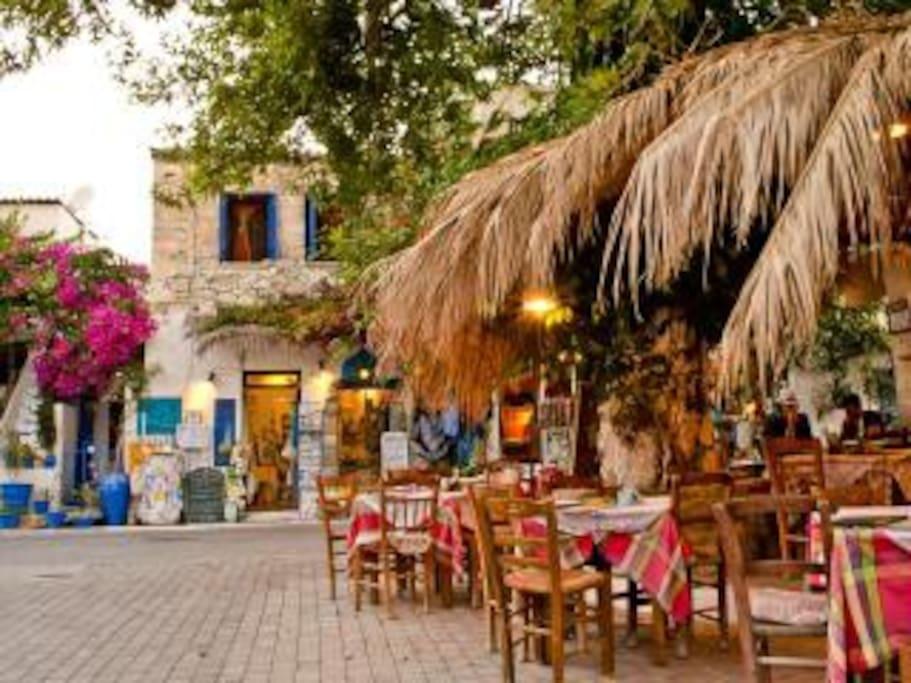 Traditional restaurant in Myrtos