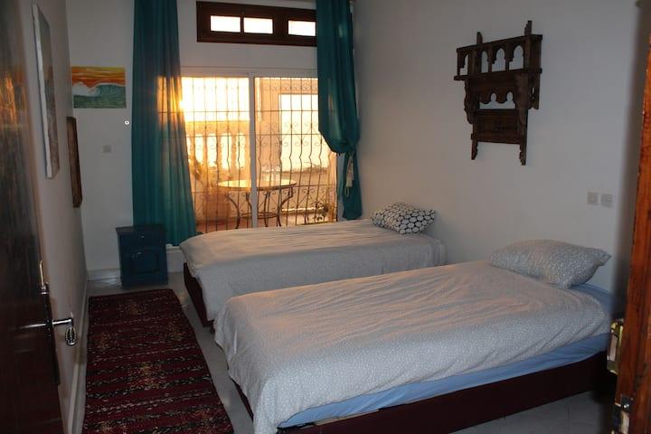 Double/Twin room in Click Surf Maroc Villa