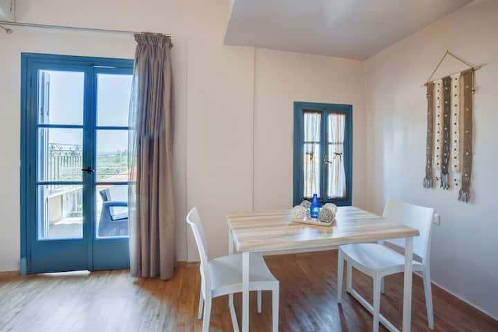 Refrescante apartamento en la isla de Lesbos con balcón