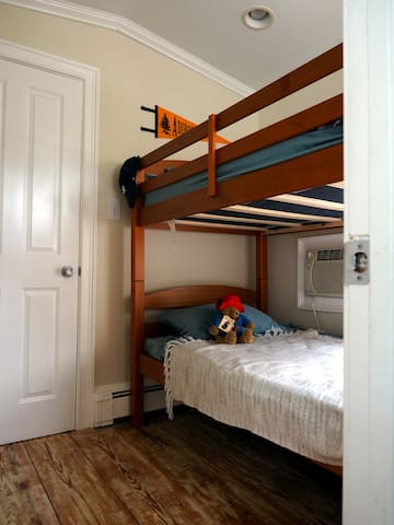 The third bedroom, with bunk bed