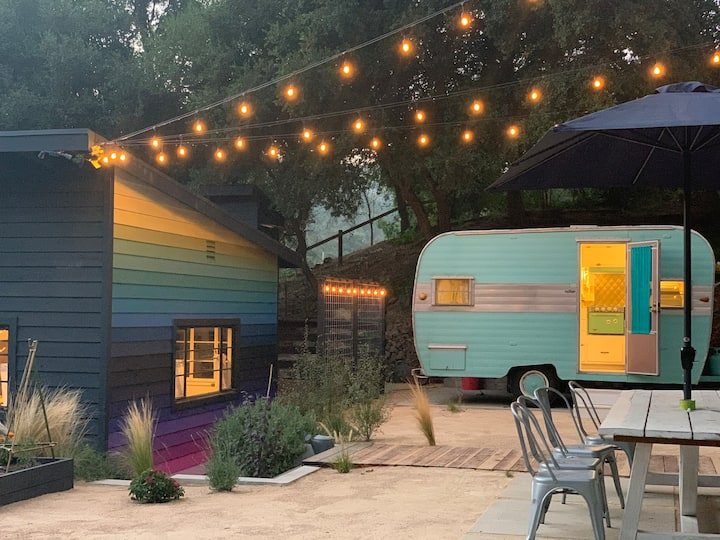 Santa Monica mountains vintage trailer retreat