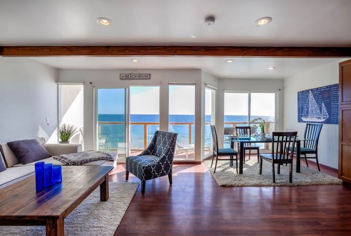 Malibu Beach Home with View Directly on The Water!