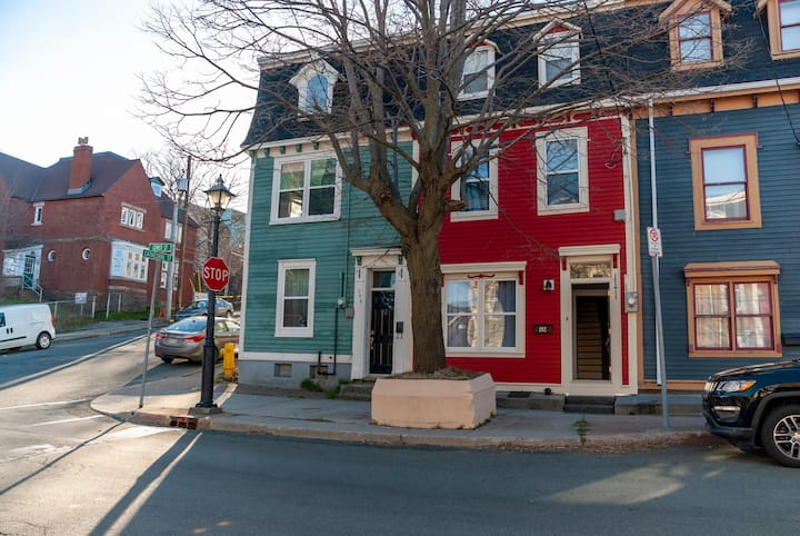 The Red Jellybean Row House on Gower