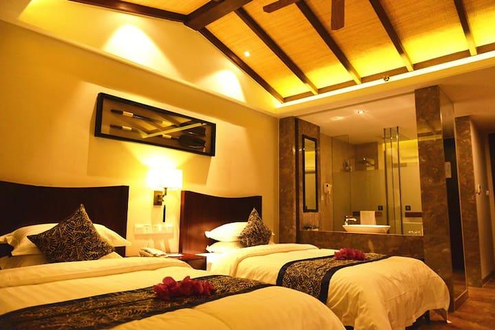 东南亚度假风格、碎片式黎族元素高档装修、个性、休闲 - Lingshui