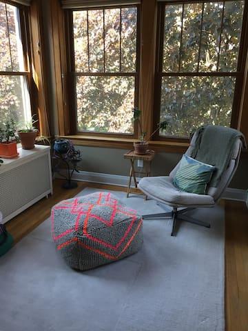 Cozy bedroom in charming Edgewater condo