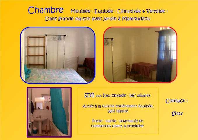 Chambre d'hôte Nyandjema - Passamainty - Rumah