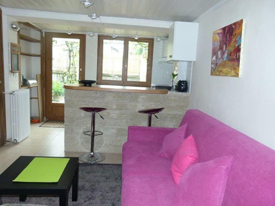 Studio meubl terrasse appartements louer aix les - Location appartement meuble aix les bains ...