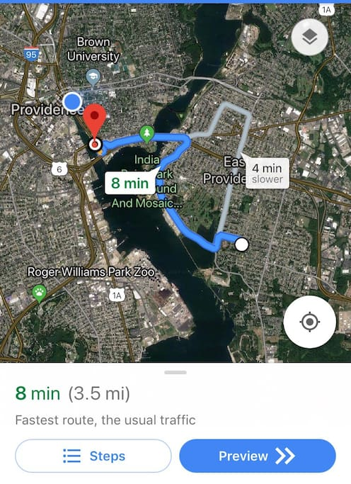 Before we get started with the rest of the photos of the room(s) I️ should mention that my home is perfect for exploring Providence as it is only an 8 minute drive (or uber) from downtown.   Below is a list of distances to other popular locations in the area:  - 45 minutes to Newport - 20 mins to TF Green airport  -  10 mins to Providence Place Mall, Convention Center, RISD & Brown, Thayer St. - 14 mins to Providence College -  17 mins to Twin River Casino - 50 minutes to Boston  - 1 hour to Cape Cod - 2 minutes to the East Bay Bike Path