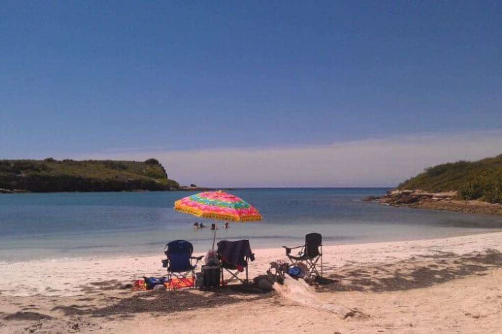 Playa Sucia, on an almost perfectly round bay, bordered by a salt marsh and bird sanctuary.