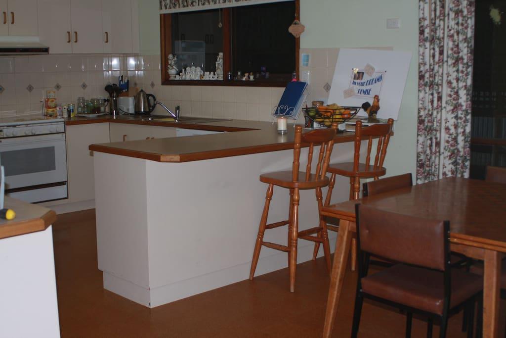 Enjoy the spacious kitchen