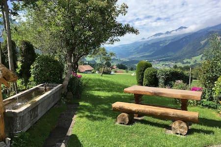 Chalet im Berner Oberland mit schöner Aussicht