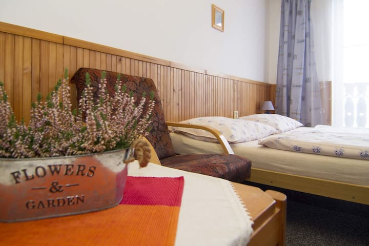 2-lůžkový pokoj č. 3 v Penzionu U Kubońů