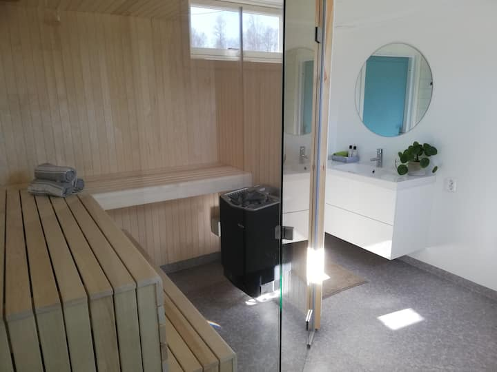 Large apartment with sauna in central Mora