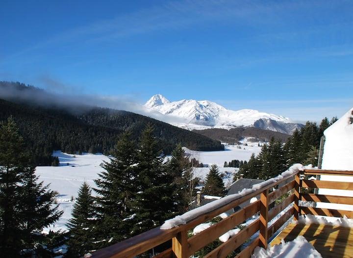 Chalet (Haut) Montagne Lac de Payolle  8 Couchages
