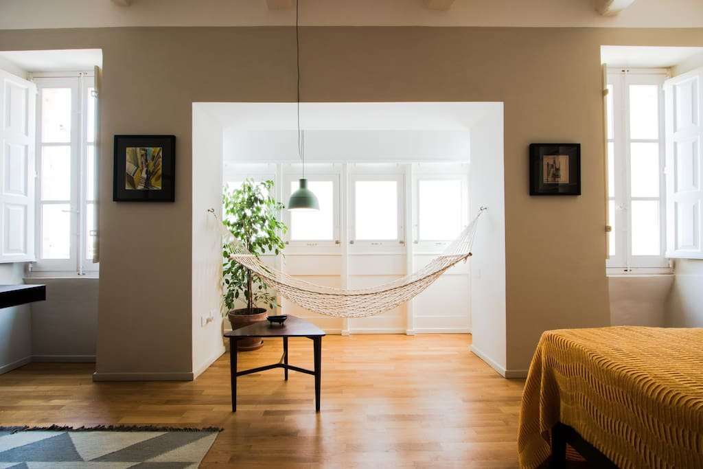 The sunny traditional balcony or 'gallarija' - for reading, breakfast or lazy afternoons on a hammock.