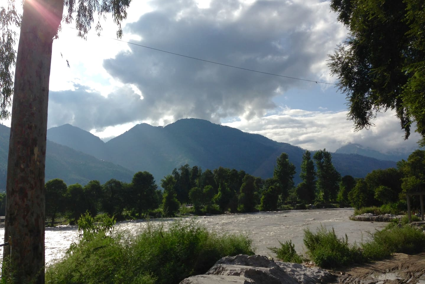 Enjoy pristine view of Parvati River and valley from right from the balcony and garden.
