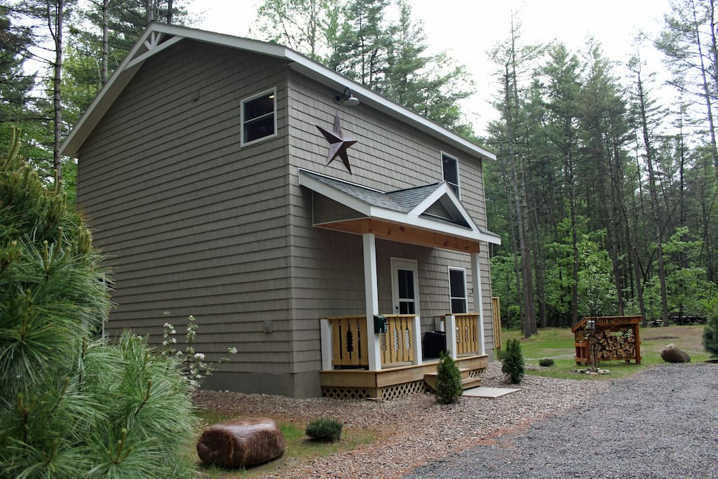 Springtime in the Adirondacks is so beautiful, notice the wildflowers blooming at the Cascade Mountain Chalet.