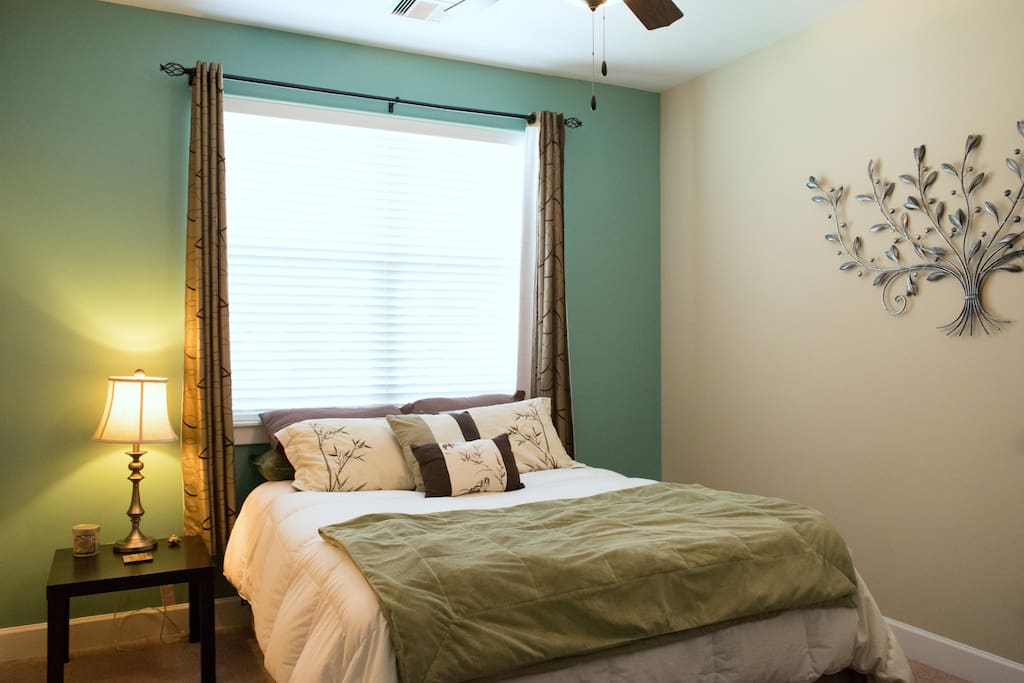 Guest Room with Queen Size Bed and Fan