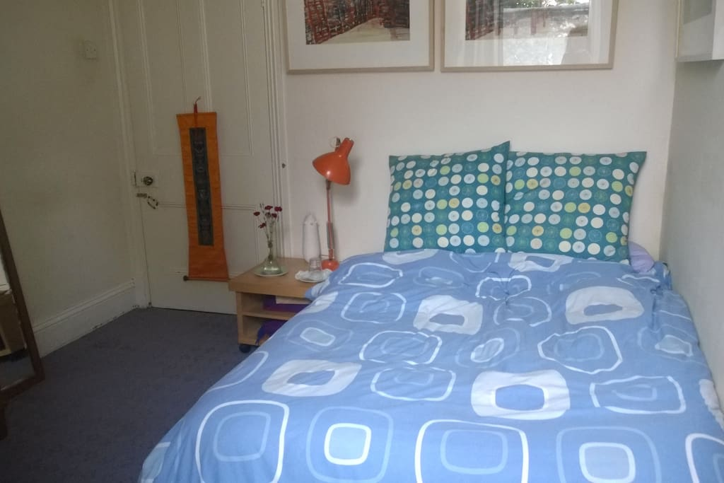 Very comfortable double bed in peaceful private room.