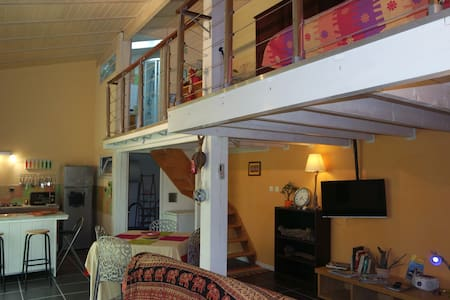 Charmant duplex tout confort sur jardin - Étaules - Çatı Katı