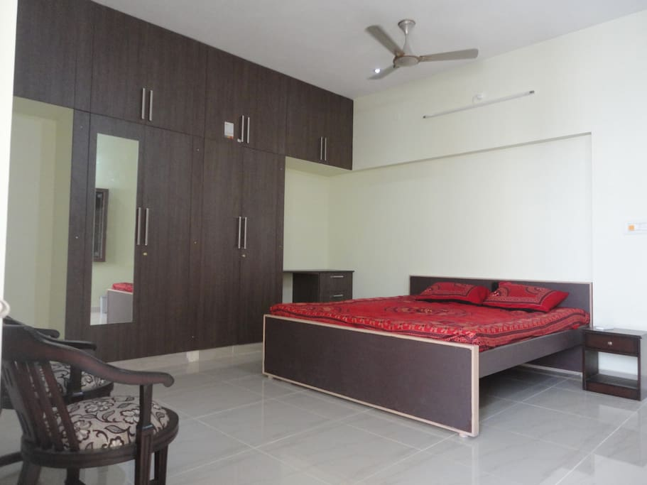 Air conditioned bed rooms with attached bath rooms.