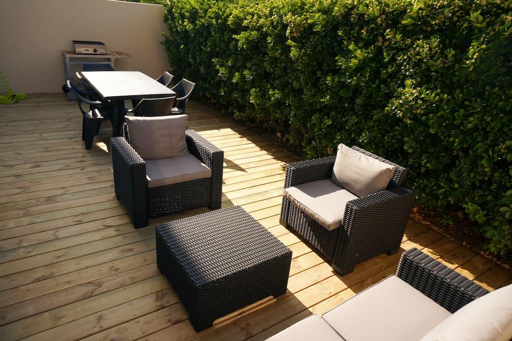 maison neuve 200m de la plage maisons louer biscarrosse aquitaine france. Black Bedroom Furniture Sets. Home Design Ideas