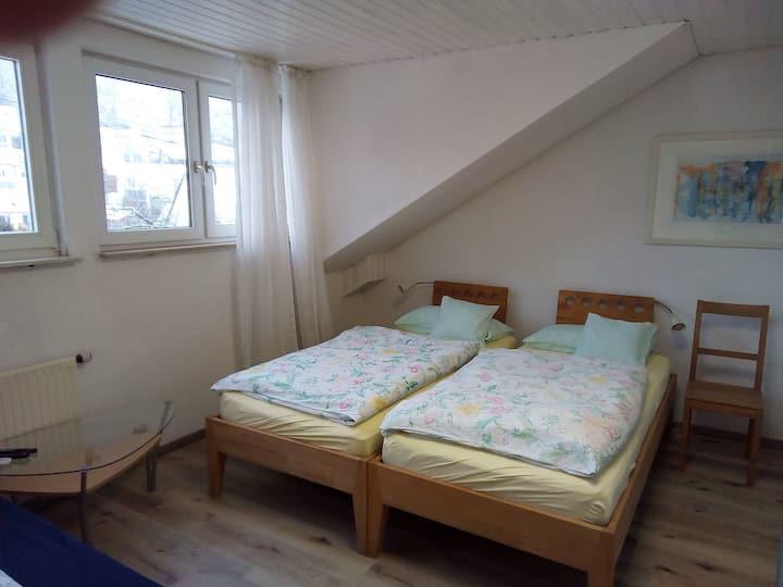 Ferienwohnung Wiedmann, (Tübingen), Ferienwohnung Wiedmann, 62qm, 2 Schlafzimmer, max. 5 Personen