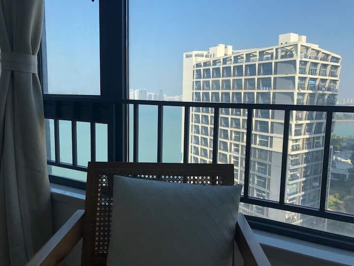 海景Loft复式公寓近海万绿园骑楼老街国贸投影主题