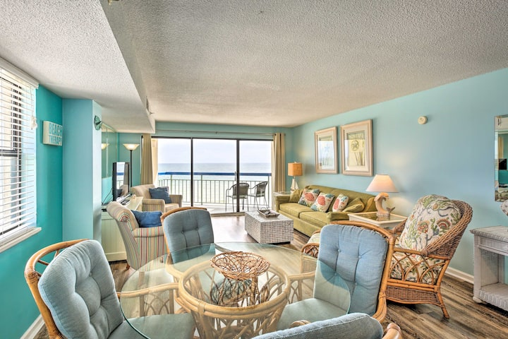 NEW! Airy Oceanfront Condo w/ Pool & Walk to Beach