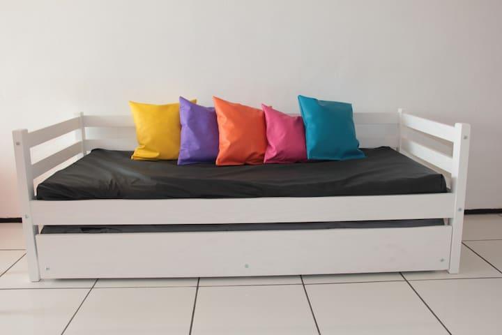 Sala sofá-bicama