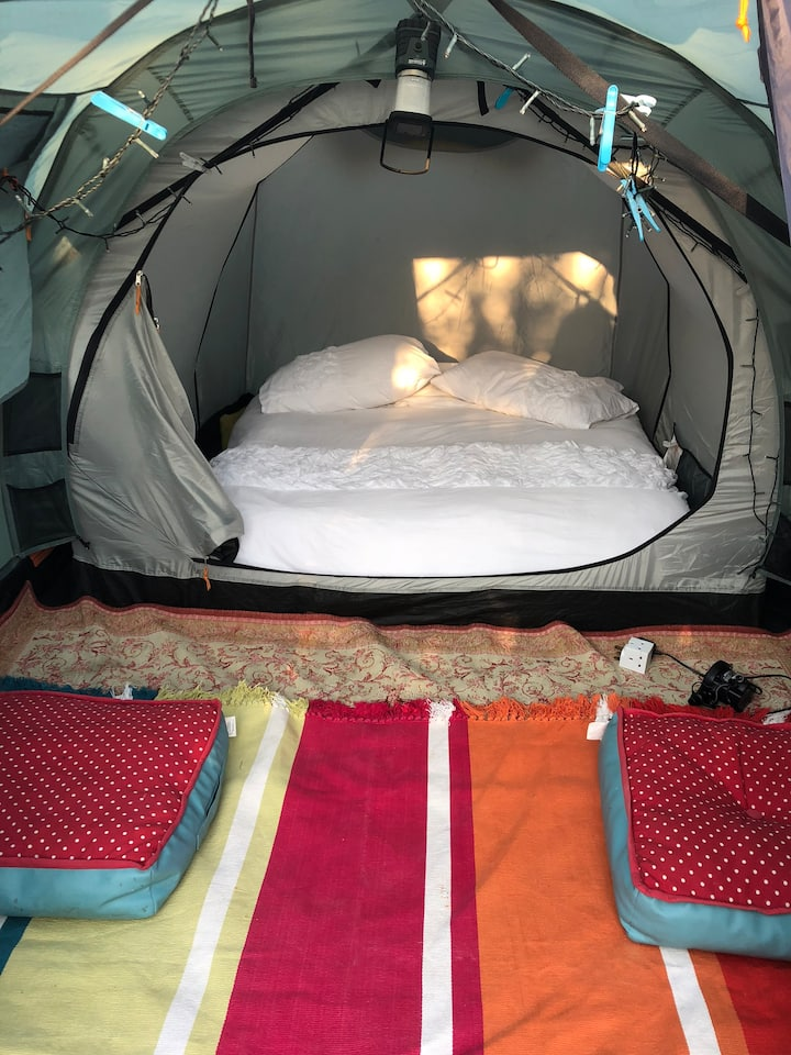 A beautiful Tent in a private back