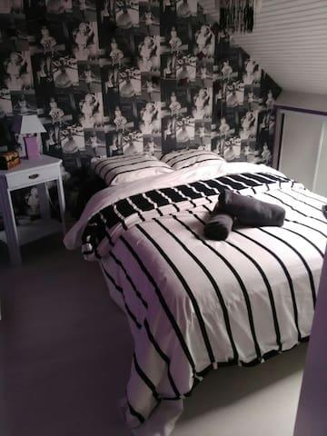 petites chambres sous pente idéal repos - Chabris - House