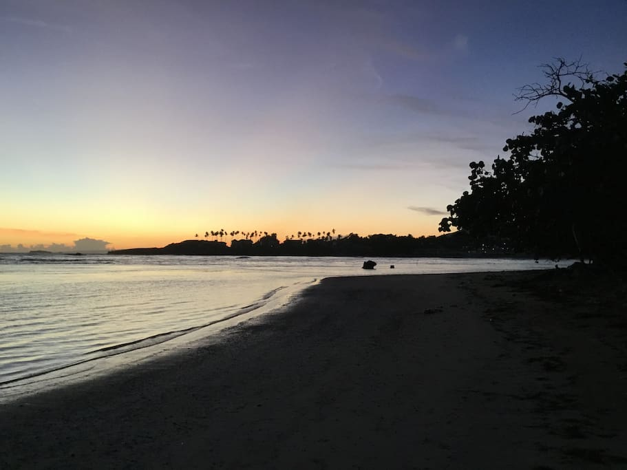 Sunrise on Playa Cofresi - an early morning walk is a great way to start your day, or try a little yoga.