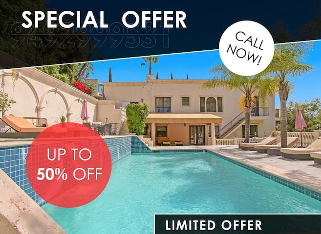 Special Offer -4B Oasis in the Hollywood Hills