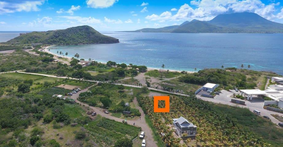 "Jason's ""Coconut Farm Bungalow""  in St Kitts"