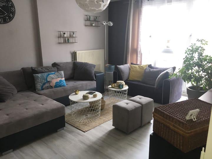 Appartement cosy, spacieux et calme