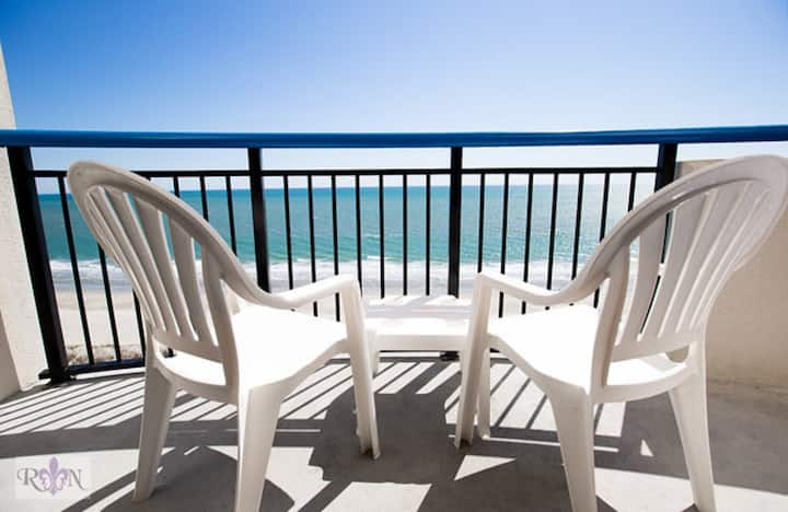 Oceanfront condo in heart of Myrtle Beach.