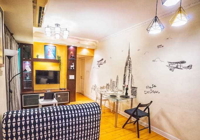 Artistic hideout,high floor,3bd,3mins to MTR