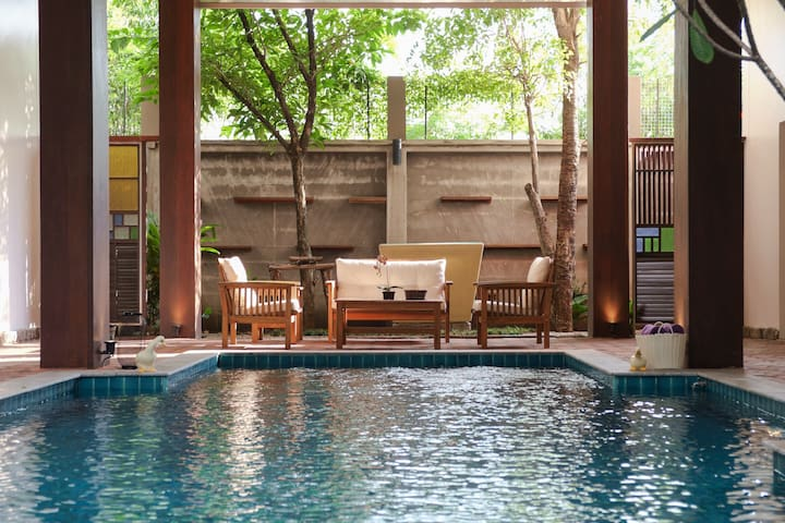 Thai Style Private Pool Villa + Airport Transfer