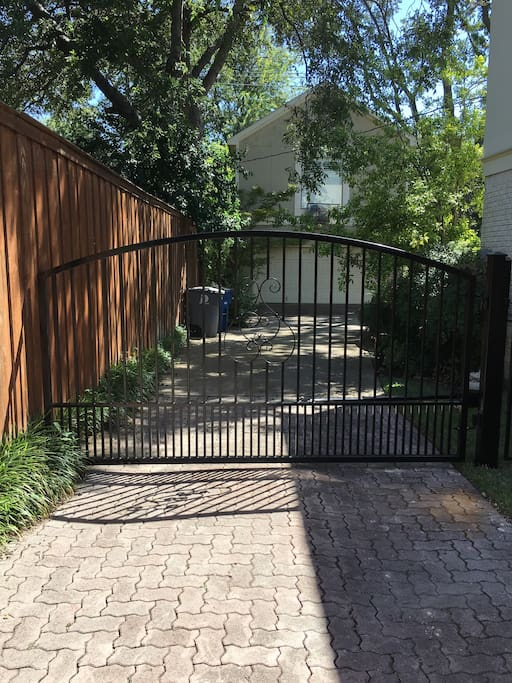 Gate to the back yard